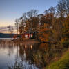 Autumn evening (hans.johansson37) Tags: september cottage sky colors lake house reflections water trees autum sunset