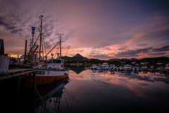 Tukthuset harbour (mrjensgreen) Tags: tukthuset harbour meløya norway norge meløy midnightsun midnattssol water sea vatten hav boat boats båt båtar fiske fishing