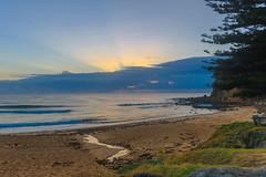 Sunrise Seascape (Merrillie) Tags: daybreak sand landscape macmastersbeach nature dawn bouddipeninsula newsouthwales clouds earlymorning nsw beach centralcoast australia sunrise sea coastal seascape sky waterscape outdoors coast water waves
