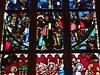 ca. 1360-1365 - 'Crucifixion, scenes from the Passion of Christ', Collégiale Saint-Florent, Niederhaslach, dép. Bas-Rhin, France (RO EL (Roel Renmans)) Tags: 1360 1365 window stained glass verrière glasgemälde fenster vitrail vitral glasinlood scenes niederhaslach bas rhin france german collégiale saint st florent florentius church kirche église iglesia armor armour 14th century christ vitraux jesus jeanbaptiste glasmalerei mail kettenhemd cotte de mailles hauberk studded gauntlet bascinet beckenhaube poleyn greave