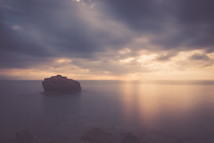 Rock and sunrise (dono heneman) Tags: rock roche rocher sunrise leverdesoleil paysage landscape waterscape seascape minimaliste minimalisme minimalism poselongue pose longue longexposure nature ciel sky nuage cloud lumière light eau water mer sea pierre stone mediterranée côte coast calafat catalogne espagne pentax pentaxart pentaxk3 silhouette