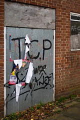 Antiseptic Graffiti: Welwyn Garden City (Mike Cook 67) Tags: political adolescentbehaviour shabby protest paint posters refuge uberurbanstreetphotographersgroup ubanurdan streetshootergroup amateurgroup urbanurbanurbangroup urban local welwyngardencity tpc exploregroup rubbish wgc woodalls urbanarea graffiti elements