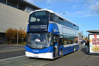 Lothian Buses Volvo B5LH 580 SJ67MFZ - Edinburgh