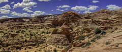 Panorama of Paria Discovery Site C (Chief Bwana) Tags: az arizona pariaplateau sandhills vermilioncliffs secretpocket pariapuppets navajosandstone psa104 chiefbwana panorama 500views