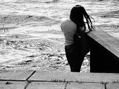 It was the way,  how the wind was playing with my memories... (Lucas Harmsen) Tags: sonydscrx10 lucasharmsen coastline water memories simplypoetry blackandwhitephotography howthewindwasplayingwithmymemories lhbt poetic emotion monochrome theanswerisblowininthewind