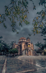 Autumn in the village (Vagelis Pikoulas) Tags: vilia village greece reflections square church october trees canon 6d tokina 1628mm landscape view clouds cloudy dramatic