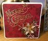 Merry Christmas (margaret.pilkington47) Tags: handmade holographic backingcard diecut sentiment goldcard seasonalflower foliage luxurious