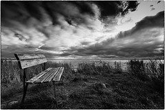 Why are you not here (ingrid.lowis) Tags: bw monochrom clouds w meer sea dars baltic