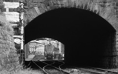 """Tunnel Vision"" A4 60009 'Union Of South Africa' (Liam60009) Tags: eastlancashirerailway elr eastlancsrailway bury tunnel tunnelportal burynorthtunnel signal semaphore blackandwhite monochrome a4 number9 9 no9 60009 unionofsouthafrica gresley streamlined steam steamlocomotive steamtrain steaming sony a7rii 3p20photocharter"