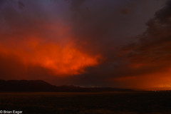 firey sky (brian eagar - very busy - not much time to comment) Tags: sky cloud storm sunset sun light rainbow rain atmosphere utah iron landscape sigma2435 sony a7r2 a7rii
