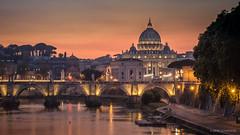 Pope's home (reneschaedler) Tags: wow dom stpetersbasilica italia italy city stangelo basilica bridge tiber nikon d750 schaedler rene sunset rome roma rom vaticano vatican vatikan pope