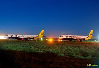 MONARCH A321s G-OZBI & G-OZBF