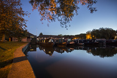 Away days (georgehuthart) Tags: nightshot nightshooters lowlightphoto eos5d canonimage canonpicture canonlens marina canal miltonkeynes canalbarge canalboat sailing houseboats