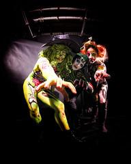 _beware the halloween (viceversa62) Tags: bodypaint bodyart body portrait reportage facepaint halloween model photoshoot witch monster character