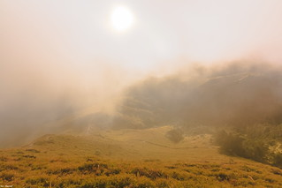 Mist, Sun in Valley@Mt. Chilai, Taiwan.奇��峰日出霧氣~