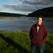 Chemung River watershed in Steuben County, N.Y. - Kris West of Finger Lakes Land Trust poses at the start of the Chemung River in Steuben County, N.Y., on Sept. 30, 2017. (Photo by Will Parson/Chesapeake Bay Program)