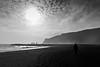 Silver soliloqy (noblerzen) Tags: iceland nikon d500 bw landscape sea sky ocean beach water rocks cliffs blacksand basalt