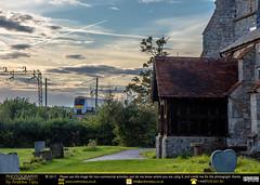 St Margarets and the Train LIne (andrewtijou) Tags: andrewtijou nikond7200 europe uk unitedkingdom england essex eastanglia stmargarets stmargaretschurch benfleet trainline c2ctrains