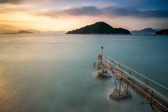 The Old Shed (- Etude -) Tags: seascape landscape sunset hongkong saiwan swimming shed 2017 longexposure island