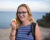 * (Cees Willems) Tags: ibiza spain espana island coast rock cliff mediterrean sea view tilted horizon evening apple girl woman glasses eat eating rocks high smile happy vacation holiday people portrait portraiture color colour ceeswillems 5dm3 35l