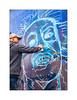 Street Art (Pad), East London, England. (Joseph O'Malley64) Tags: pad streetartist streetart urbanart freeart graffiti publicart eastlondon eastend london england uk britain british greatbritain art artist artistry artwork beetlejuice workinprogress wall walls wallmural mural muralist concrete grid lines urban aerosol cans spray paint x100t accuracyprecision fujix