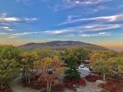 (Scorpiol13) Tags: beautyinnature fall earth landscape nature goldenhour clouds bluesky colorfulleaves trees foliage topofmountain peak mountain autumn