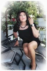 Enjoy the last warm sun ... (Josephine Nyl) Tags: cd crossdresser strumpfhosen pantyhose tights hosiery nylon nyl