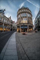 Große Ulrichstraße (p h o t o . w o r l d s) Tags: hallesaale sachsenanhalt deutschland architektur fisheye fischauge wideangle hdr tonemapping photomatix fujixt10 7artisans75mm28 photoworlds groseulrichstrase