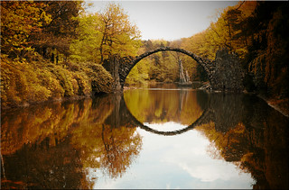 The Rakotz bridge in Kromlau in Saxony