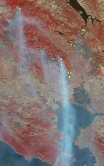 Destructive Northern California Fires (NASA's Marshall Space Flight Center) Tags: nasa marshall space flight center msfc jpl jet propulsion laboratory earth terra satellite wildfires california