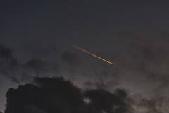 flying high (glasseyes view) Tags: glasseyesview inmyneighborhood atevening sky clouds lookup golden eveningsky