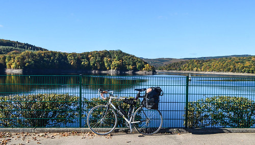 Autumn colors and a loaded bike