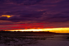 Purple Sky (brucetopher) Tags: sky water beach sea ocean cloud clouds cloudy purple skies cloudscape seascape sunset sunlight rays colorful royal regal sand strand 7dwf