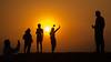 Desert Silouettes (jonathan.scaife81) Tags: emirates united arab dubai desert safari people silhouettes sun hot samsung nx300 18200mm selfie stick sand dunes middle east orange