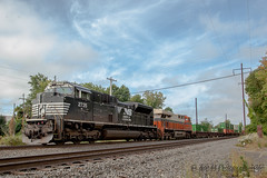 NS EMD SD70M-2 #2735 @ Oxford Valley, PA (Darryl Rule's Photography) Tags: 2017 20q 24k buckscounty cpjohn catenary clouds cloudy dash9 emd eastbound fall freight freightcar freighttrain freighttrains ge heritage heritageunit heritageunits intermodal interstate mv5 morrisville morrisvilleline morrisvilleyard ns norfolksouthern oxfordvalley pa pc prr penncentral pennsy pennsylvania railroad railroads sd70m2 september sun sunny train trains trentoncutoff