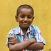 Outdoor portrait of a cute little indian boy