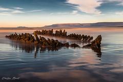 Iceland 2017 - Sauðárkrókur -  Ghost ship [EXPLORED] (cesbai1) Tags: sauðárkrókur is iceland islande islandia islanda north ghost ship bateau fantôme sea mer pose lente longue long exposure 2017 sony a7rii explore explored