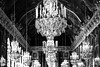 Hall of Chandeliers (thedailyjaw) Tags: chateaudeversailles palaceofversailles hallofmirrors chandeliers d610 nikon 85mm bokeh candles bw blackwhite ornate classic versailles blackandwhite