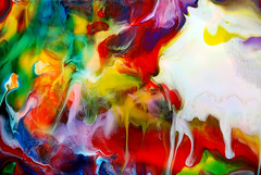 Flowing Translucent Paints (markchadwickart) Tags: mark chadwick paint painter painting fluid liquid modern colour color colourful art artist abstract abstractart fluidpainting white yellow red green translucent transparency transparent acrylic layers layering drips chance depth