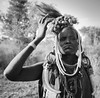 Mursi Woman (Rod Waddington) Tags: africa african afrique afrika äthiopien ethiopia ethiopian ethnic etiopia ethnicity ethiopie etiopian omo omovalley outdoor omoriver mursi tribe traditional tribal blackandwhite woman beads portrait people mago national park