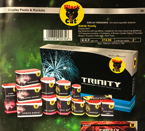 Trinity Selection Box by Black Cat Fireworks