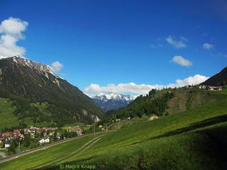 Blick ins Tal auf Zermatt