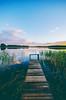 Calm summer evening (Arttu Uusitalo) Tags: pier lake lakescape landscape summer evening sunset finland northern ostrobothnia nikon d7000 sigma 1020 sky clouds