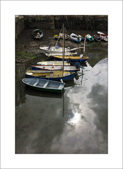 Harbour Reflections (Steve-T201) Tags: clouds rain reflections harbour falmouth cornwall