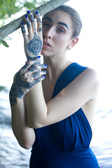 Rachel in the Water (Sophie.Dituri) Tags: water dress plants nature light beauty fashion sophie photo portrait tattoo henna