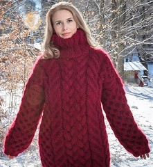 Christmas cabled winter mohair wool turtleneck (Mytwist) Tags: tanglescreations merry xmas christmis outfit sweatergirl design fashion girl craft cozy bulky wool sweater style expensive timeless textured passion pullover pulli lady love mohair heavy
