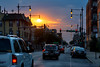 Lawrence Ave Sunset (Andy Marfia) Tags: chicago albanypark lawrenceave sunset clouds sky orange sun road cars traffic urban streetlights d7100 70300mm 1320sec f63 iso100