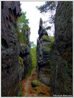 Die Kleine Felsengasse am Nonnenstein bei Jonsdorf