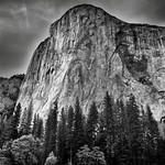 The Textured Face of El Capitan (Black & White, Yosemite National Park) thumbnail