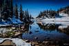 Horseshoe Lake Reflections 4 (Kent Copeland) Tags: fall snow lake absaroka beartooth cody wyoming unitedstates